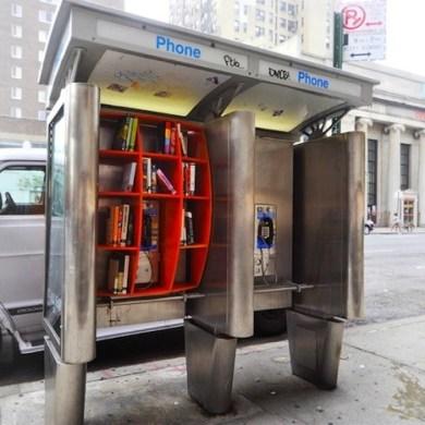 เปลี่ยนตู้โทรศัพท์สาธารณะในนิวยอร์ค เป็นห้องสมุดขนาดเล็ก เพื่อส่งเสริมการเรียนรู้ของคนในชุมชน 23 - Library