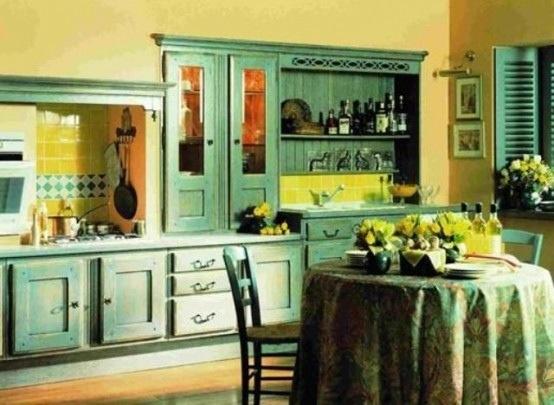25560710 085305 ไอเดียแต่งห้องครัวด้วยสีเขียว เหลือง 30 แบบ