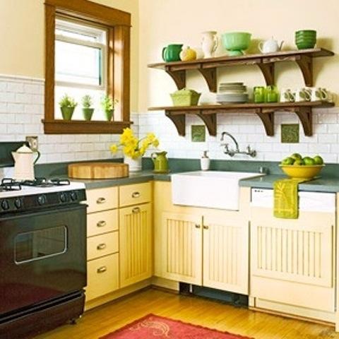 25560710 085402 ไอเดียแต่งห้องครัวด้วยสีเขียว เหลือง 30 แบบ