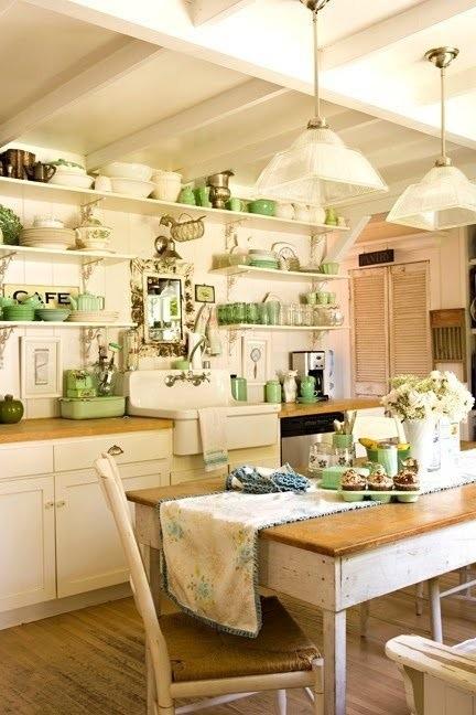 25560710 085653 ไอเดียแต่งห้องครัวด้วยสีเขียว เหลือง 30 แบบ