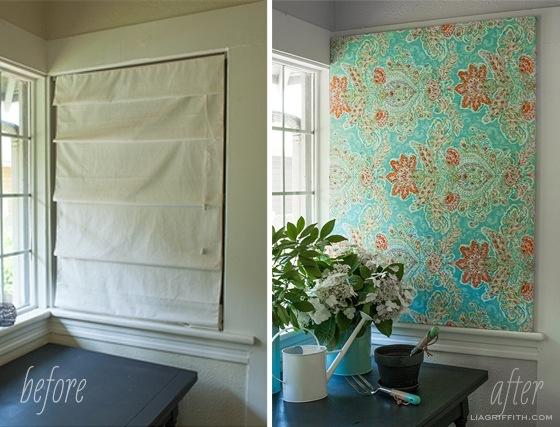 DIY สร้างงานศิลปะติดผนัง หรือแทนผ้าม่าน ด้วยผ้าสวยๆในกรอบผ้าใบ 13 - DIY