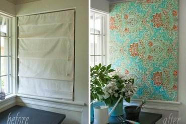 DIY สร้างงานศิลปะติดผนัง หรือแทนผ้าม่าน ด้วยผ้าสวยๆในกรอบผ้าใบ 22 - DIY