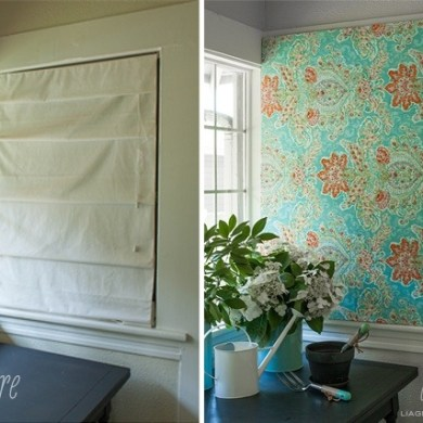 DIY สร้างงานศิลปะติดผนัง หรือแทนผ้าม่าน ด้วยผ้าสวยๆในกรอบผ้าใบ 26 - DIY