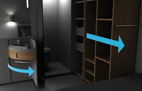 25560712 190147 Cook&Bath..กั้นห้องด้วยเฟอร์นิเจอร์สำเร็จรูป ที่เป็นห้องน้ำและครัวไปด้วย