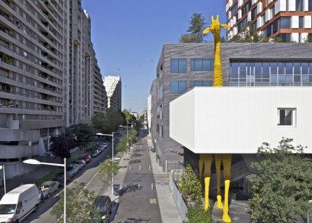 Dezeen Giraffe Childcare Centre by Hondelatte Laporte Architectes SS 3 450x321 Giraffe Childcare Centre ตึกยีราฟในกรุงปารีส