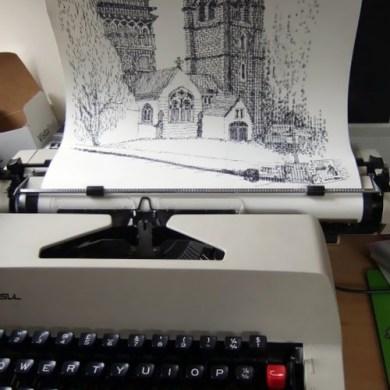Typewriter Art ศิลปะจากพิมพ์ดีด 33 - Art & Design