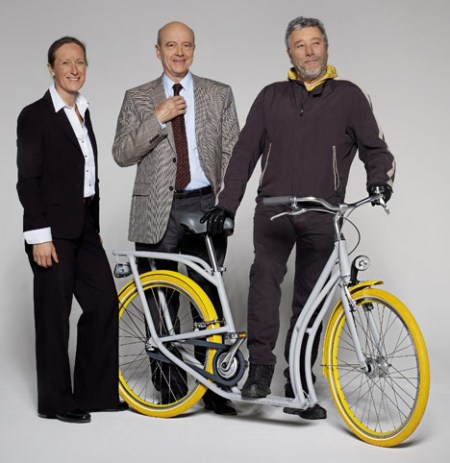 dezeen Pibal by Philippe Starck and Peugeot 2 450x463 City Ride Pibal จักรยานสำหรับปั่นบนท้องถนนที่มีสภาพการจราจรที่ติดขัด
