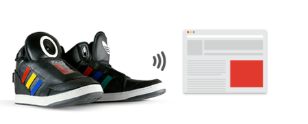 google adidas talking shoe 450x182 Google + Adidas = Talking Shoes
