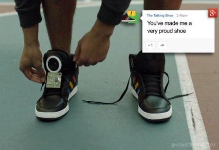 google art copy code the talking shoe 450x308 Google + Adidas = Talking Shoes