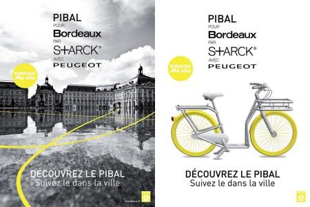 pibal affiches1 450x300 City Ride Pibal จักรยานสำหรับปั่นบนท้องถนนที่มีสภาพการจราจรที่ติดขัด