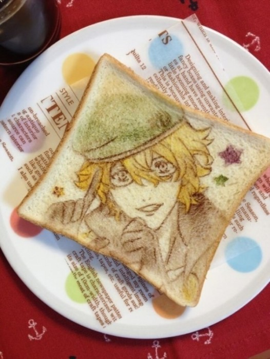 เมื่อศิลปินญี่ปุ่นใช้ขนมปังแทนผ้าใบในการวาดภาพ 13 - อาหาร