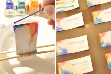 DIY. Tie-Dyed Business Cards 10 - Business Card