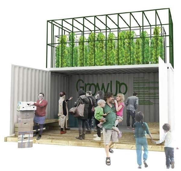 'GrowUp Box' ชุดฟาร์มขนาดเล็กปลูกผักเลี้ยงปลาในสวนหลังบ้าน ทำจากตู้คอนเทนเนอร์เก่า 13 - microfarm