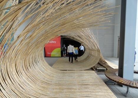 สร้างทางเข้างานนิทรรศการด้วยไม้ไผ่ by Kengo Kuma 13 -