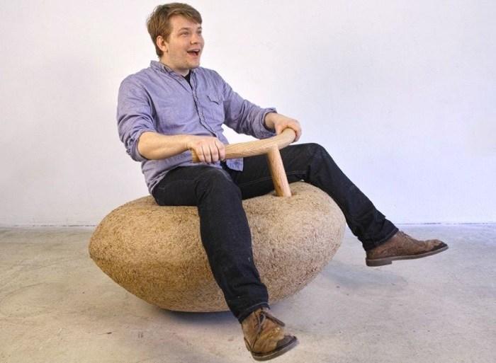 Rocking Lump..เก้าอี้โยก+ม้าโยก จากกระดาษกล่องรีไซเคิล 19 - รีไซเคิล