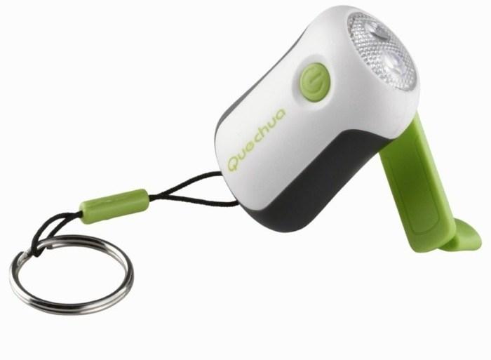 พวงกุญแจไฟฉาย LED ใช้พลังงานจากมือหมุน 24 - LED