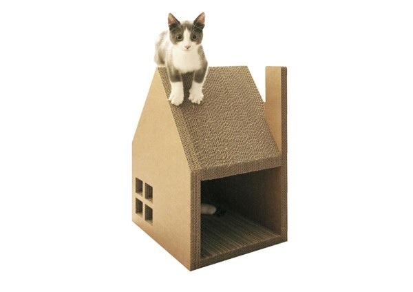 บ้านแมวจากกระดาษกล่อง..ให้ข่วน ลับเล็บกันเต็มที่เลย 13 - cardboard