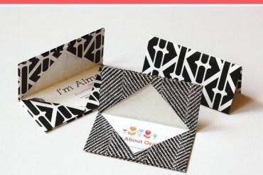 DIY พับกระดาษเป็นที่ใส่นามบัตรเก๋ๆ 22 - origami