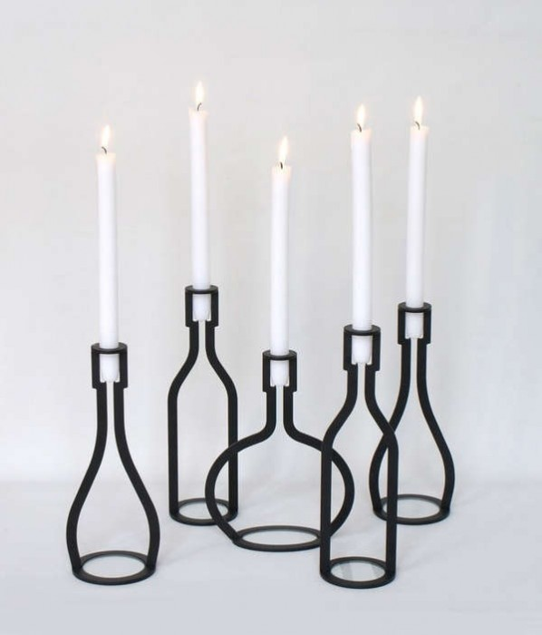 BOTTLE WIJN- candle holder 13 -