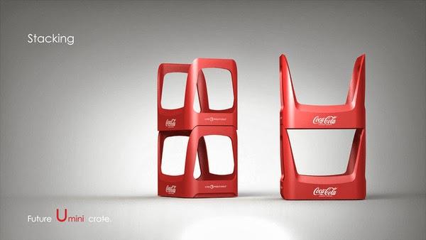 Coke future crate 07 Coca cola  Eco Bottle Containers