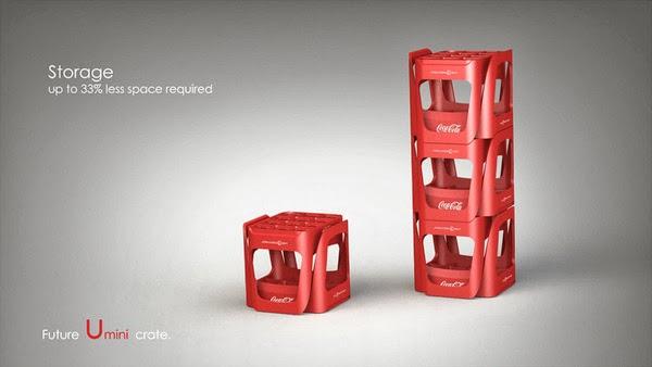 Coke future crate 09 Coca cola  Eco Bottle Containers