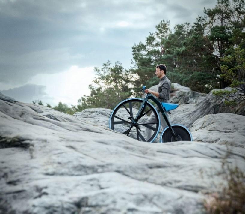 ding300 electric velocipede designboom011 Velocipedes,จักรยานยุค 1865 กับวัสดุไฮเทค