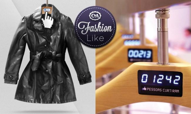 promotional fashion like hangers 1 650x388 Fashion LIKE, Brazil กดไลค์ ช่วยตัดสินใจในการช็อปปิ้ง