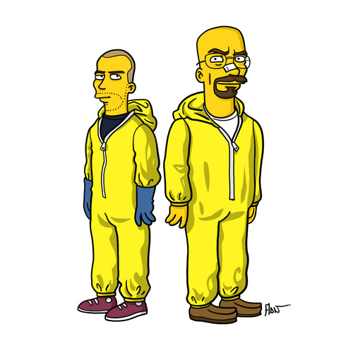 tumblr mq90lobsvp1snftoqo1 500 Breaking bad characters illustrated like the simpsons