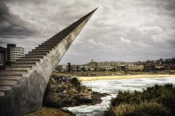 บันไดนี้ไม่มีจุดสิ้นสุด โดย David McCracken 2 - Sculpture by the Sea