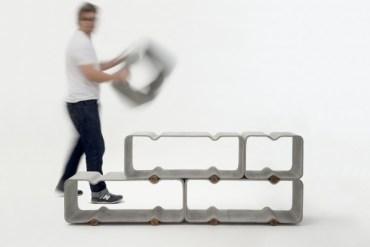 BASSO ชั้นวางของแนวมินิมอล ทำจากไฟเบอร์ซีเมนต์ เก๋และเป็นมิตรกับสิ่งแวดล้อม 19 - minimalist