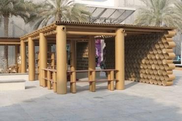 พาวิเลียจากCardboard ในงานAbu Dhabi Art Fair 18 - cardboard