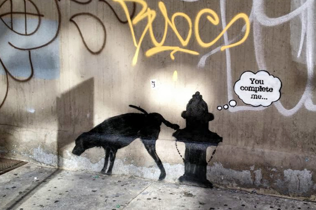 banksy Better Out Than In 3 01 งานศิลปะ Street Art BETTER OUT THAN IN โดย Banksy