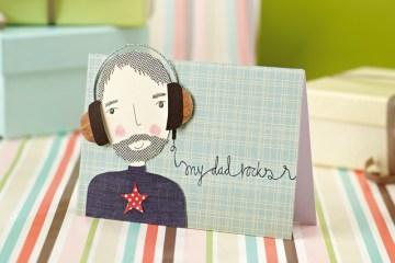 FREE Father's Day printables : DIY การ์ดวันพ่อ โหลดฟรีตัวการ์ตูนคุณพ่อ