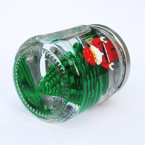 santa snow globe 3 DIY.Lego snowglobes for Christmas
