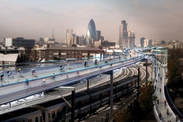 SkyCycle แผนสร้างทางเฉพาะจักรยาน ยกระดับคล่อมทางรถไฟ ในลอนดอนเริ่มต้นขึ้นแล้ว 2 - news14