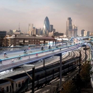 SkyCycle แผนสร้างทางเฉพาะจักรยาน ยกระดับคล่อมทางรถไฟ ในลอนดอนเริ่มต้นขึ้นแล้ว 15 - news14