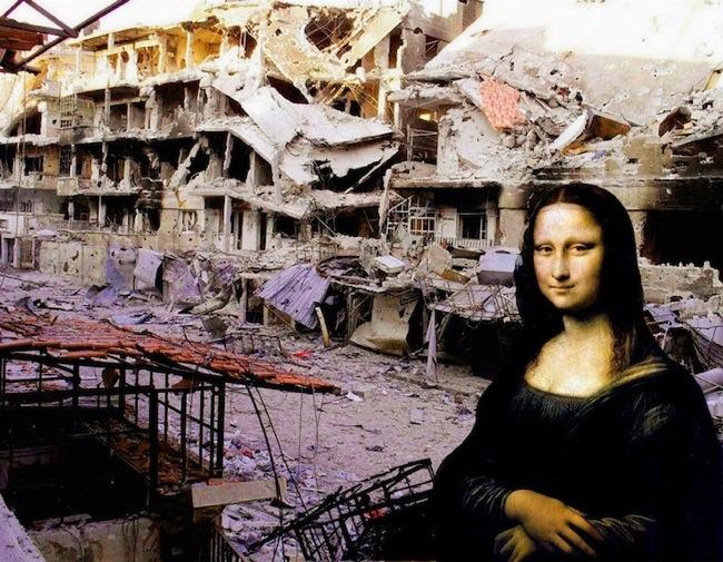 ภาพศิลปะระดับโลก กับซากปรักหักพัง ...ภาพสะเทือนใจต่อสงครามกลางเมืองในซีเรีย 13 - Graffiti