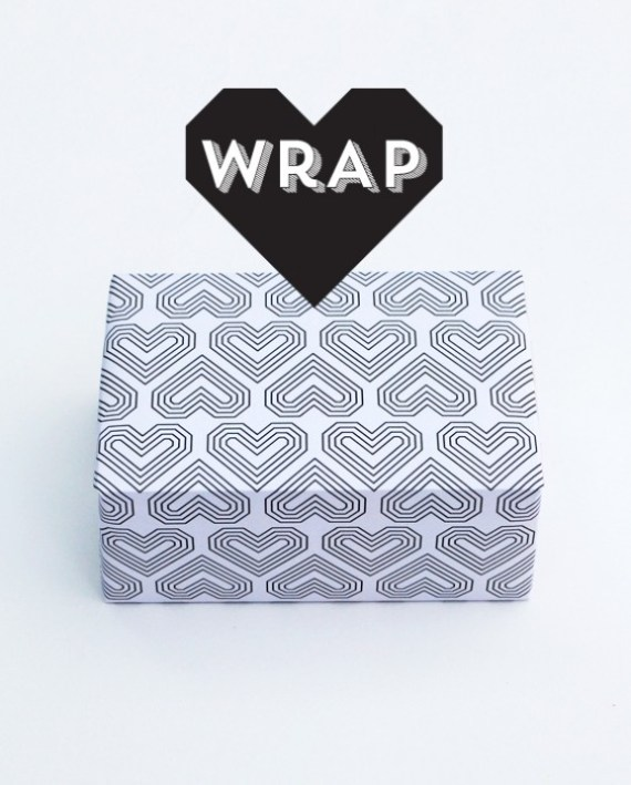 wrap 1 DIY.Card and Paper wrap for Valentines ❤