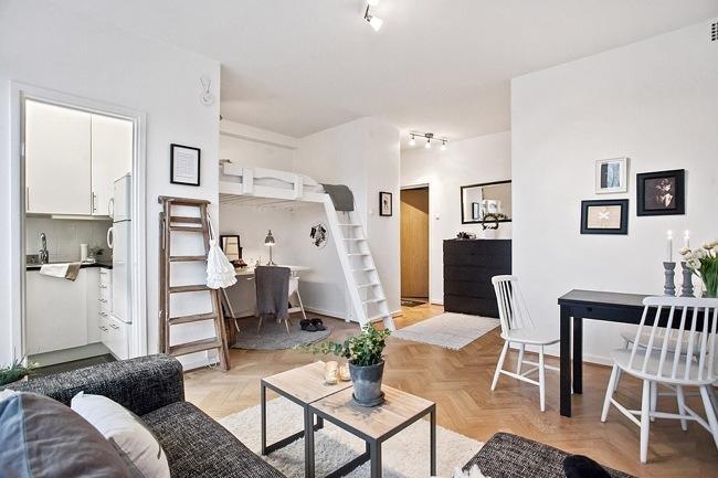 """ห้องพัก 29 ตร.ม. เล็กจริงหรือ? ไอเดียสวีเดนเปลี่ยน """"ห้องเล็กๆ"""" ให้กลายเป็น """"บ้าน"""" 19 - 100 Share+"""