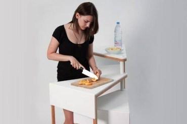 โต๊ะจิ๋ว..ประหยัดพื้นที่ เปลี่ยนหน้าที่ตามระดับความสูง 21 - โต๊ะ