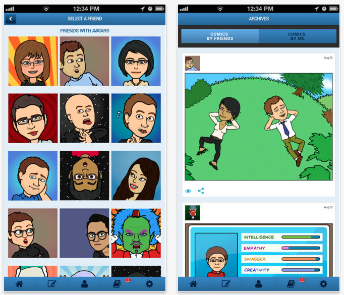 Screen Shot 2014 02 09 at 8.52.27 PM Bitstrips  comics starring you and your friends มาสร้างเราและเพื่อนๆเป็นการ์ตูนกันเถอะ