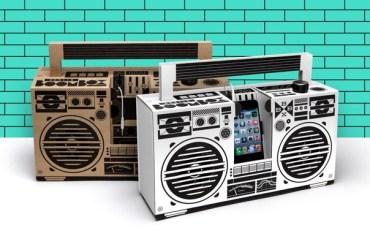 ลำโพงสมาร์ทโฟน จากกระดาษกล่อง ในแบบ Boombox ของยุค'80  15 - speaker