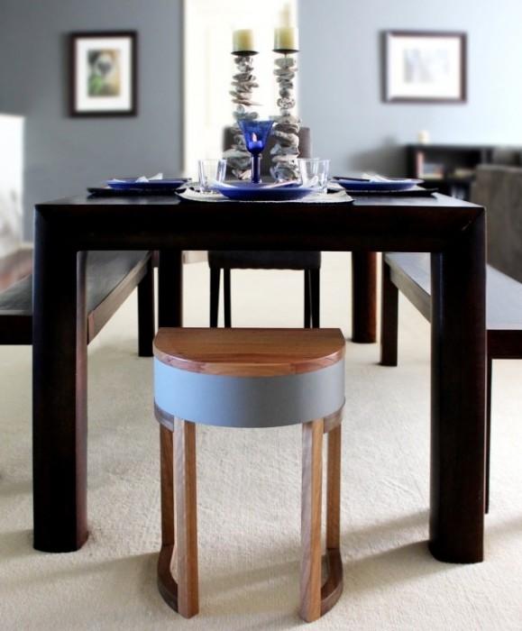 25570306 193928 TABLES FOUR TWO โต๊ะเก้าอี้ 2ชุด ซ้อนเรียงกันอย่างฉลาด สำหรับบ้านพื้นที่จำกัด