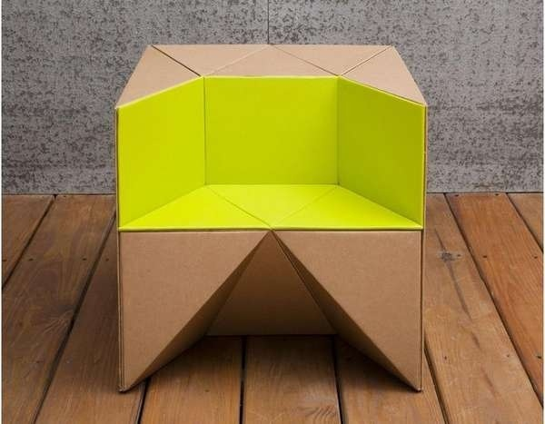 25570310 184142 เก้าอี้origamiจากกระดาษกล่อง.. น้ำหนักเบา ปลอดภัย เป็นมิตรกับสิ่งแวดล้อม