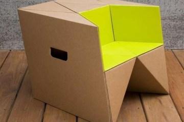 เก้าอี้origamiจากกระดาษกล่อง.. น้ำหนักเบา ปลอดภัย เป็นมิตรกับสิ่งแวดล้อม 10 - cardboard