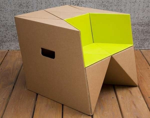 25570310 184148 เก้าอี้origamiจากกระดาษกล่อง.. น้ำหนักเบา ปลอดภัย เป็นมิตรกับสิ่งแวดล้อม