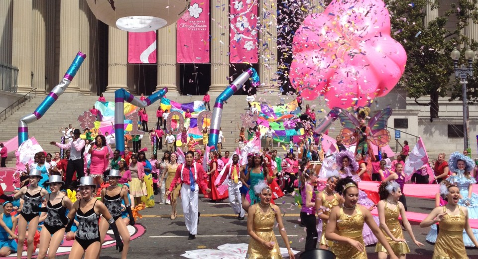 Cherry Blossom Parade เทศกาลซากุระ National Cherry Blossom Festival