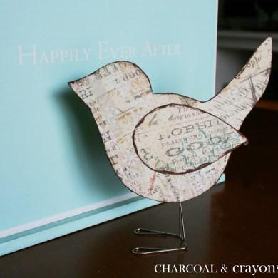 DIY นกตั้งโต๊ะ จากคลิปหนีบกระดาษ 22 - DIY
