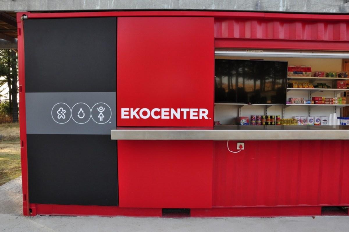 ekocenter and goods sold EKOCENTER  ตู้คอนเทอนเนอร์ช่วยเปลี่่ยนน้ำจากแหล่งน้ำในชุมชน เป็นน้ำดื่มสะอาด