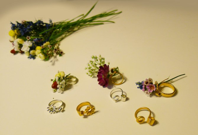 10 Blooming Jewelry, Spring rings by Gahee Kang
